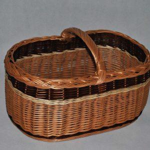 Kosz na piknik grzyby zakupy koszyk wiklinowy prezent z wikliny wiklina 03