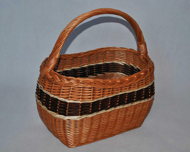 a037148858398f Kosz na piknik grzyby zakupy koszyk wiklinowy prezent z wikliny wiklina 06