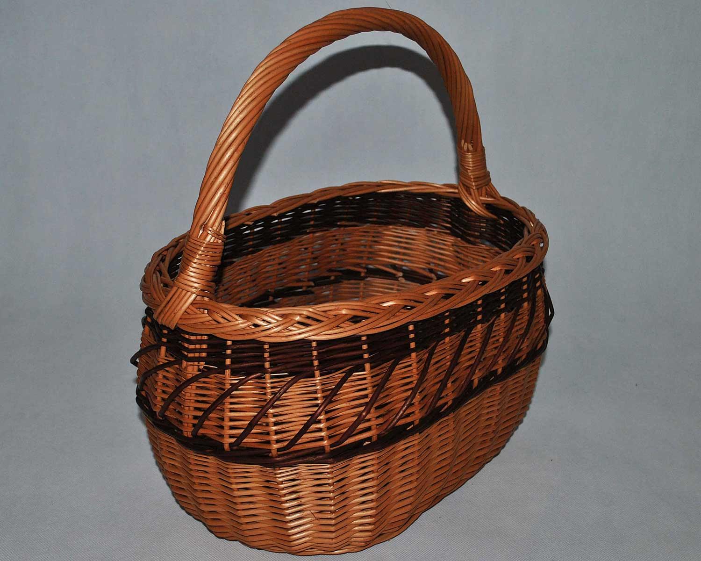 b5cd7dbcb9cb41 Wiklinowy kosz na grzyby piknik prezent zakupowy koszyk z wikliny wiklina  zakupy 02